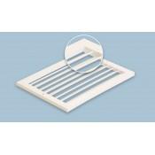 Решетки накладные, нерегулируемые с одним рядом подвижных пластин (10)